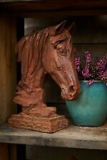 Cast Iron Graceful Horse Statue/Garden Head Statue/Feature/Ornament
