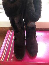 Bcbg Ladies Wedge BG-Palmy Brown Suede Boots- 8.5m