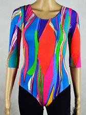 GILDA MARX Bodysuit Multicolor 12-14 Y.o. Leotard Long Sleeve Dance 161-3b,76k