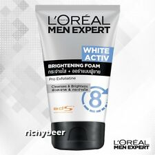 1x100 ml. L'Oreal Men Expert White Activ Brightening Foam Face Wash Brighten