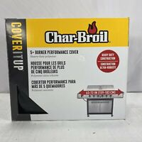 "Char-Broil 8519 5+ Burner Performance Cover Black 63-72"" Heavy Duty Open Box"