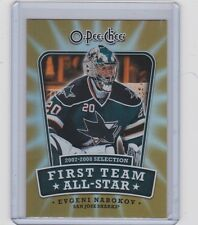 08-09 2008-09 O-PEE-CHEE EVGENI NABOKOV FIRST TEAM ALL-STAR 1ST-EN SHARKS