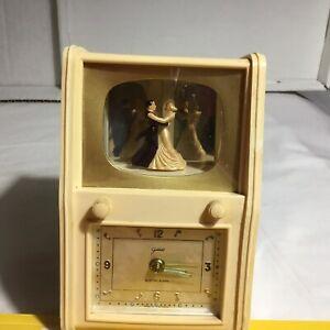 Vintage Goldbuhl Musical Alarm Clock With Waltzing Dancers