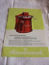 Fleischer Metzker prospectus Alexanderwerk schneidmeiser Int. de mélange schnellcutter