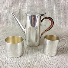 Antique Childs Tea Set Silver Plate Coffee Jug Miniature Art Deco Bauhaus Style