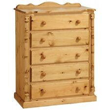 PINE FURNITURE CHELTENHAM 5 DRAWER CHEST DRAWER NEW ANTIQUE WAX NO FLAT PACKS