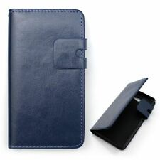 * Book Klapp Tasche HÜLLE Leder-Imitat  Cover für ver. Handys Cover Schutz HÜLLE