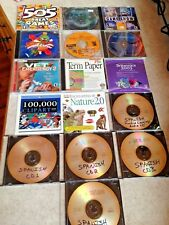 Lot 16 CD ROMs Emergency Vet Term Paper Clip Art Games Looney Tunes Spanish