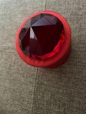 Crystal Paperweight Cut Glass Giant Diamond Shape Jewel Decor Gift New