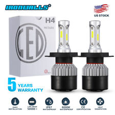 H4 COB LED Bulb HID White 360° Hi/Low Beam Motorcycle Headlight 6000K High Power