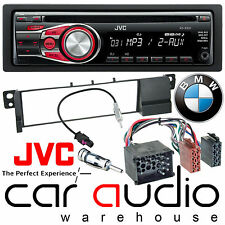 BMW 3 Series E46 1998-02 JVC Car Stereo CD MP3 Radio Aux Player RED Display Kit