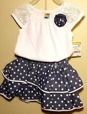 Little Girls 2T Flower Clothing Sets Summer Top and Skirt Kids 2pcs Outfit