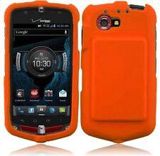 Hard Rubberized Case for Casio G'zOne Commando 4G LTE C811 - Orange