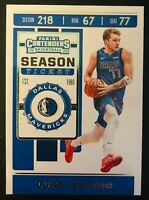 2019-20 Panini Contenders Luka Doncic Dallas Mavericks Basketball Card #73