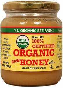 YS Organic Bee Farms 100% Organic Raw Honey 1 lb (2 Pack)