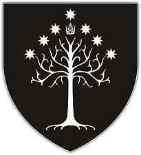 "Gondor Flag Lord of The Rings Car Bumper Window Sticker Decal 4""X5"""