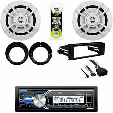 "JVC Bluetooth USB Stereo, FLHT Harley Dash Kit, 6.5"" Kenwood Speakers/Adapters"