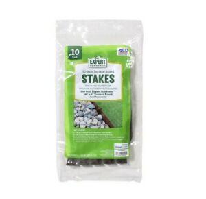 """5 bags of Expert Gardener 10"""" Plastic Terrace Board Stakes Brown 10 Ct each bag"""