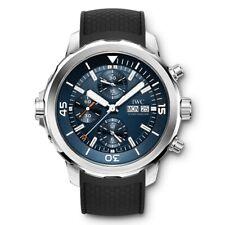 Nuevo IWC Aquatimer Cronógrafo Acero Automático Azul Reloj Hombres Dial IW376805
