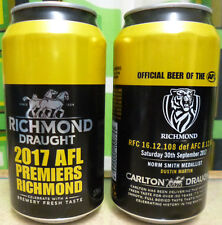 RICHMOND DRAUGHT 2017 AFL PREMIERS - SINGLE EMPTY BEER CAN