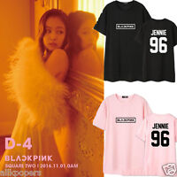 KPOP BLACKPINK SQUARE TWO T-shirt JENNIE Tshirt Unisex LISA Cotton Short Sleeve