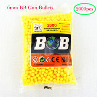 2000pcs 6mm Ball Pellets Bullets High Grade Polished Ammo for BB Gun, Tanks Toys