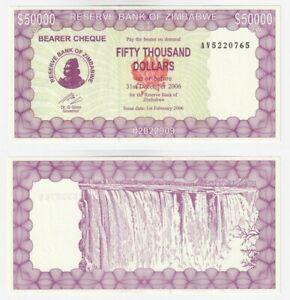ZIMBABWE 50,000 Dollars (2006) P.29 - UNC.