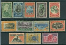New listing Liberia 1921 pictorial set of 12, Mint $ #183-94 animals bird reptile