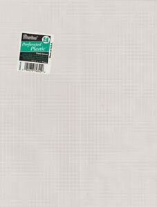 """Darice Perforated Plastic Canvas 14 Count 8.5""""X11""""-Clear, 33275-1"""