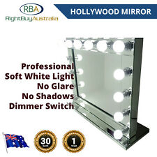 Mirror Hollywood Vanity Makeup Wall Table Soft 14 LED Lights Dimmer ALL MIRROR