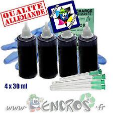 Recharge Kit Encre 4x30ML Couleur BLACK universelle pour HP