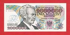 POLAND 1992 2000000 zloty Paderewski UNC series A with MISTAKE