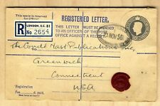 1953 Registered Cover Great Britain with Registered Label & 8.5 Pence Wax Seal
