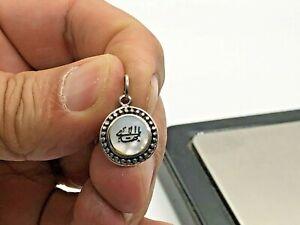 Baha'i Handmade Pearl/Sadaf Sterling Silver Charm