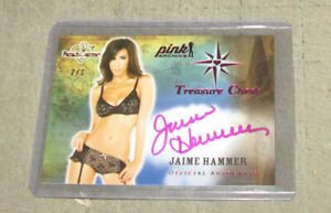 JAIME HAMMER 2013 TREASURE CHEST 2/3 Benchwarmers Autograph Card Pink Archive