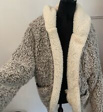 Sweet Rain Women's Reversible Sherpa Hooded Jacket Sz M NWT PLUSH