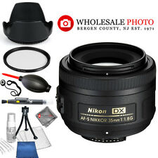 Nikon AF-S DX NIKKOR 35mm f/1.8G Lens (Nikon F Mount)! USA MODEL STARTER KIT NEW