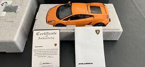 1/12 Autoart Lamborghini Gallardo metalic Orange Not 1/18