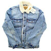 Levi's Trucker Jean Jacket Sherpa Fleece Levi Strauss, Light Blue 0001 $98
