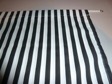 "Black and white broad stripe poly cotton single cupboard curtain  35"" x 42"""