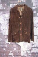 Calvin Klein Khakis Dark Brown Leather Jacket Size Medium No.T476 16/1