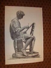 Ispirazione mattutina Statua in gesso di Luc. Bizzarri