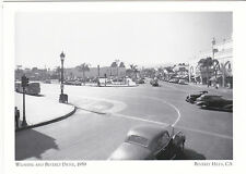 "*Postcard-""Wilshire & Beverly Drive"", 1939 @ Beverly Hills, California (#38)"