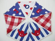 BNWT Ragazzi Blu Rosso Personalizzato Tessuto Bunting Festa Battesimo Regalo Di Compleanno