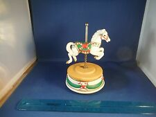 "Christmas Candy Cane Carousel Horse ""Jingle Bells"" Music Box"