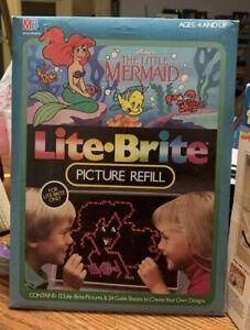 NIB Milton Bradley MB Disney's Little Mermaid Lite Brite Picture Refill