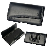 HORIZONTAL Leather Belt Clip Holster Case Cover For iphone 6 7 8 Plus Xs Max Xr