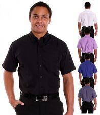 Maschinenwäsche Klassische Herrenhemden im Button-Down-Kragen-Stil mit Kurzarm-Ärmelart auf Slim Fit