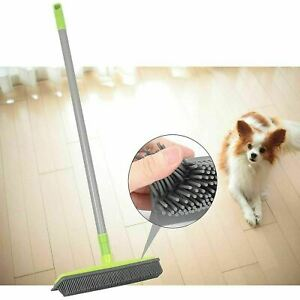 2 in 1 Rubber Squeegee Brush & Window Cleaner Long Extendable Handle Mop Broom