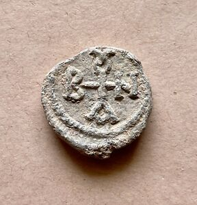 Byzantine lead seal of Baanes officer (6th/7th c.). A nice piece!